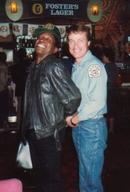 Howard Mungo and me, Sydney, 1986