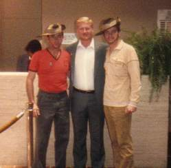 Gibbo and me with Sammy Davis, CMH, in Chicago